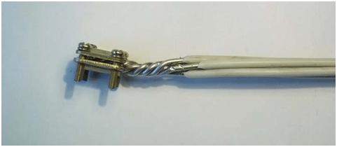 Зажим на алюминиевых проводах