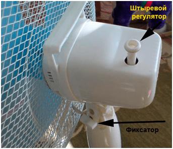 Фиксатор электродвигателя с крыльчаткой