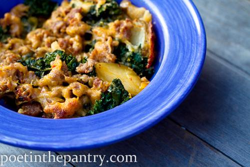 Sausage Kale Potato Casserole - poet in the pantry