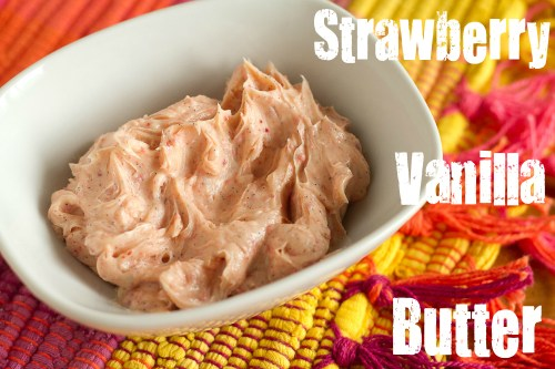 strawberry vanilla butter