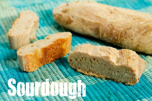 little slices of sourdough