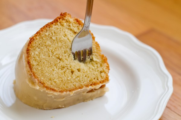 Butermilk Bundt Cake with Salted Caramel Icing