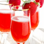 Strawberry Rossinis are like the Bellini you already know and love...but with a strawberry twist!