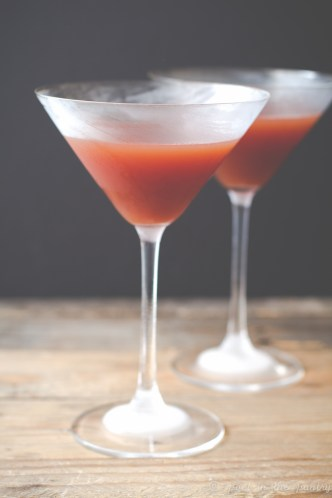 Blood and Sand is a Prohibition-era cocktail featuring blended Scotch whisky, sweet vermouth, Cherry Heering, and orange juice.