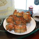 """Cooked Chinese mitten crabs, the """"hairy crabs"""" in the incident. Photo by Dennis Wong, used with permission."""