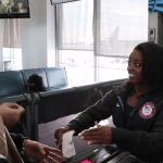 Simone Biles surprised United passengers at O'Hare