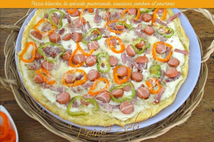 Pizza blanche, la spéciale gourmande
