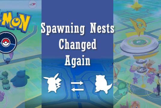 Pokemon GO Spawning Nests Changed Again