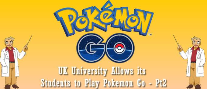 UK University Allows its Students to Play Pokemon Go