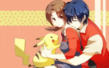 pocket-monster-pokemon-boy-girl-hug-animal-3840x2400