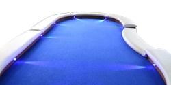 Pokertisch LED-Beleuchtung Dilego Leder