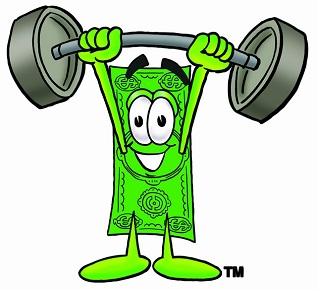 Stock clipart image of a money cartoon character. This clip art image is also available as part of a 75 image collection. These images can be used as a brand mascot for your business and can also be used in many different forms of promotion.