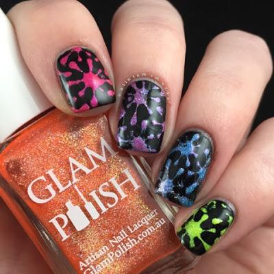 Glam Polish Rainbow Nails