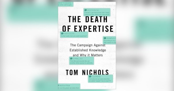 the death of expertise review