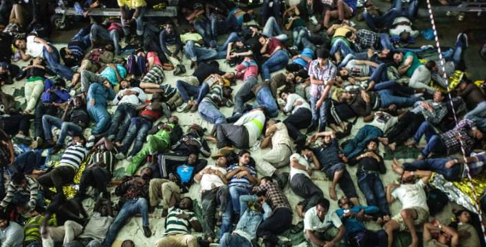 Migrantes resgatados no Mediterrâneo. Foto: UNHCR / A. D'Amato