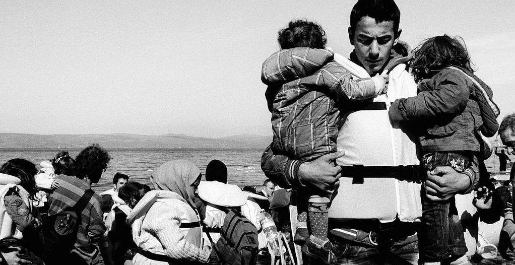 Refugiados chegam na ilha de Lesvos, na Grécia. Foto: UNHCR/Giles Duley