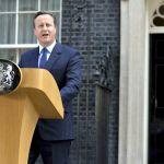 O primeiro-ministro britânico, David Cameron, anuncia a saída da UE. Foto: Tom Evans/ Crown Copyright