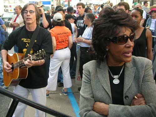 March 17 antiwar march L.A. Jackson Browne, Maxine Waters