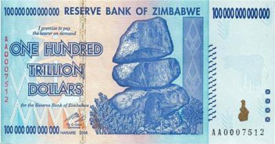 zimbabwe 100 trillion 2009 obverse