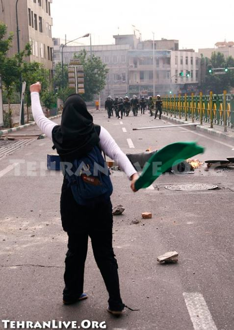 tehranlive.org - woman protester
