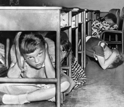 These drills against atomic bombs protected about as much a Shelter in Place does