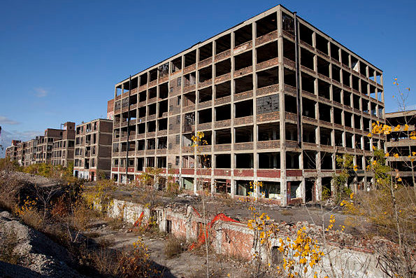Abandoned Packard plant. Detroit