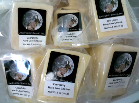 Caerphilly. One of the many cheeses we make and sell locally in southern Utah