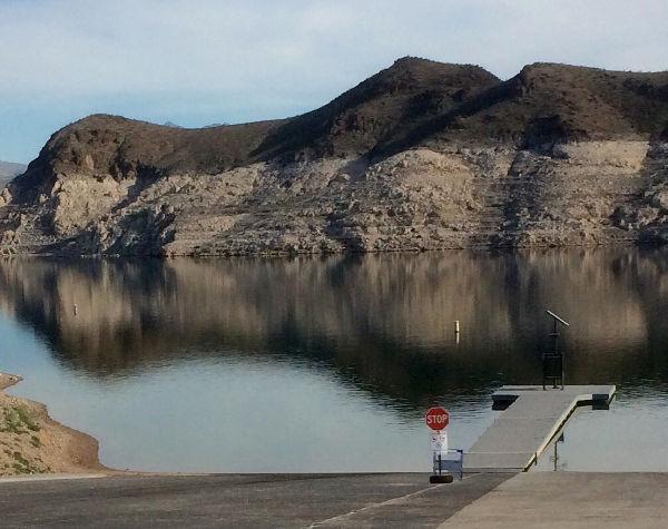 Echo Bay. Lake Mead. Bathtub ring.
