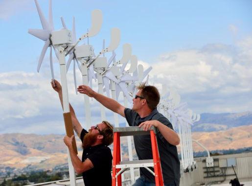 Intel micro wind turbines