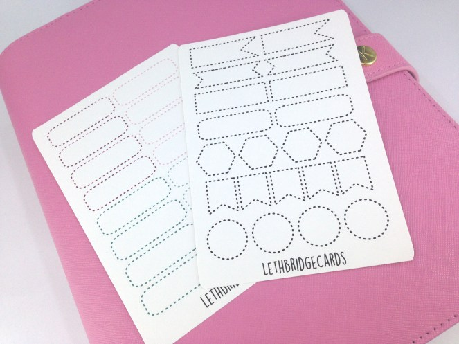 dotted stickers