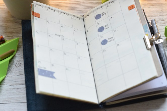 monthly travelers notebook