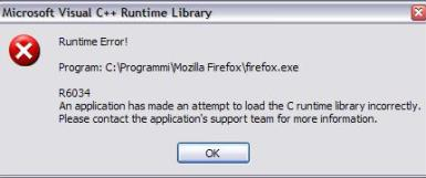 Visual C++ Runtime Error