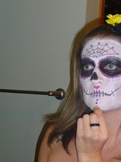 Picture Tutorial: Sugar Skull Face Painting