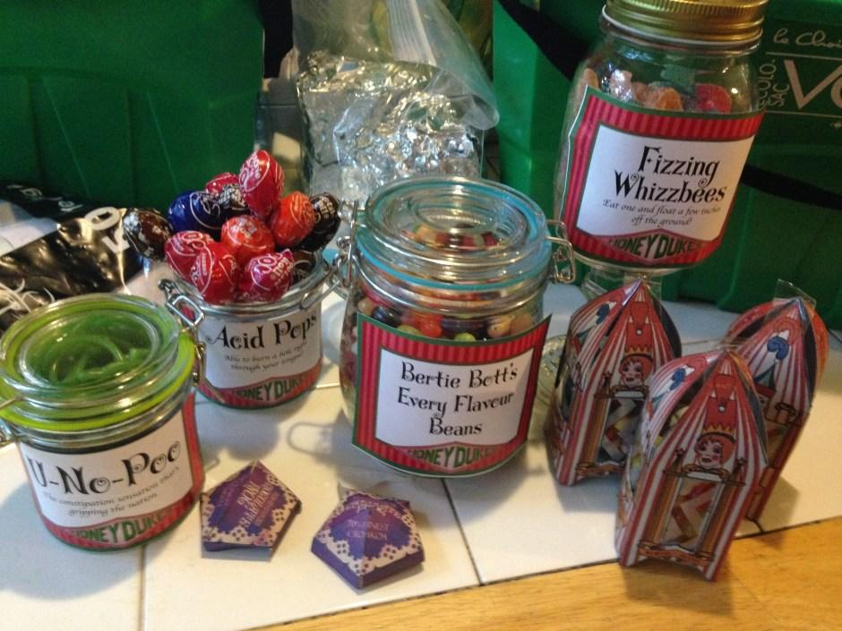 Honeydukes, DIY, Harry Potter Party, Hogwarts Party, Harry Potter Candy