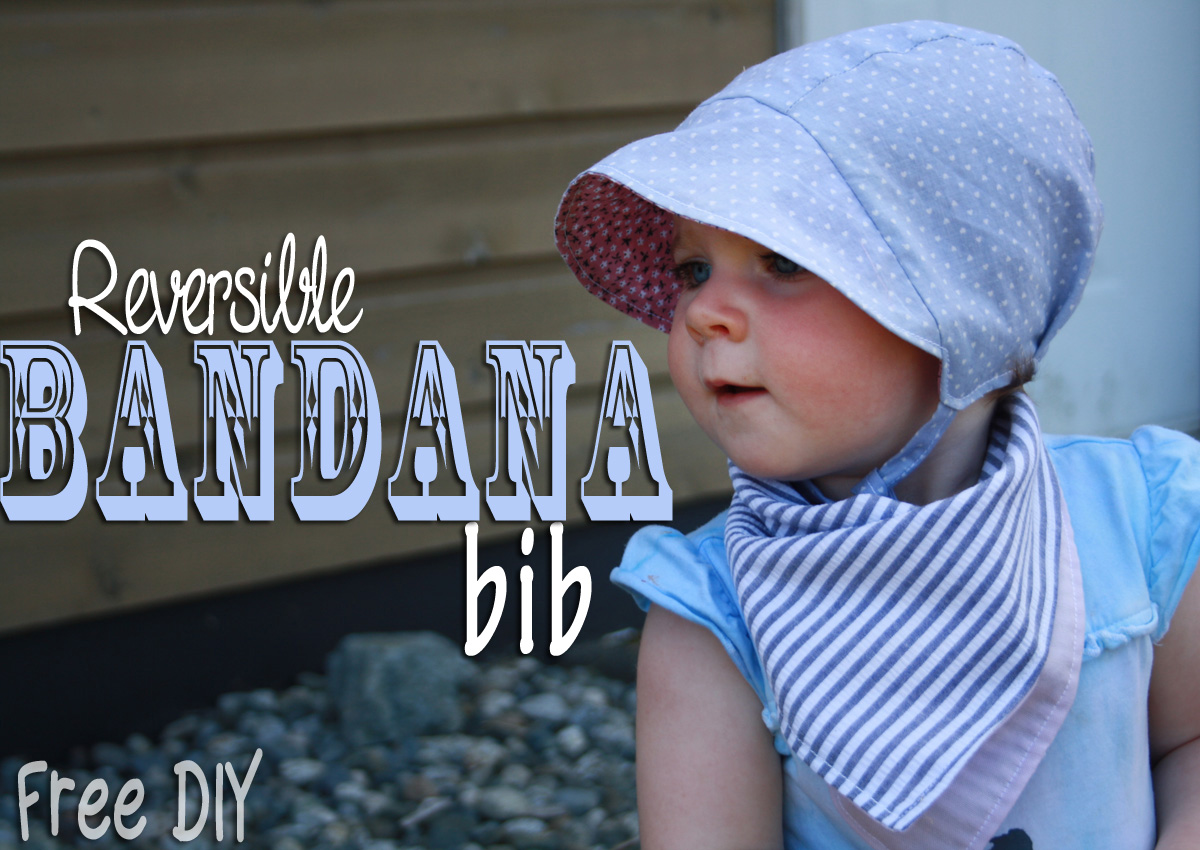 Free Reversible Bandana Bib Tutorial