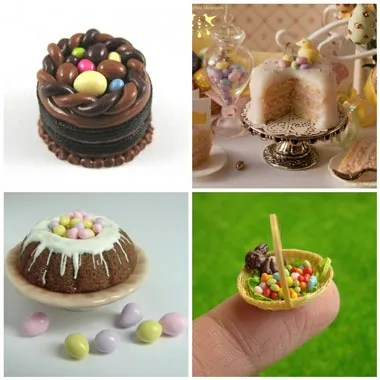 polymer clay miniatures for Easter