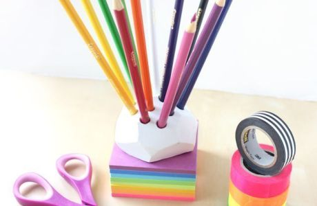 Make a Pencil Holder with Air Dry Clay