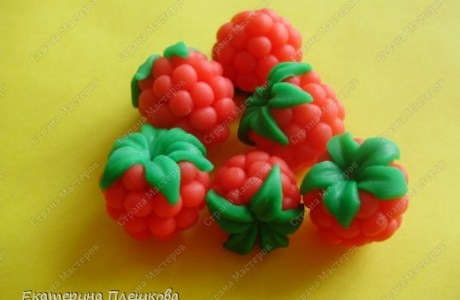 Polymer Clay Raspberries