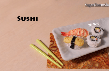 Making Polymer Clay Sushi
