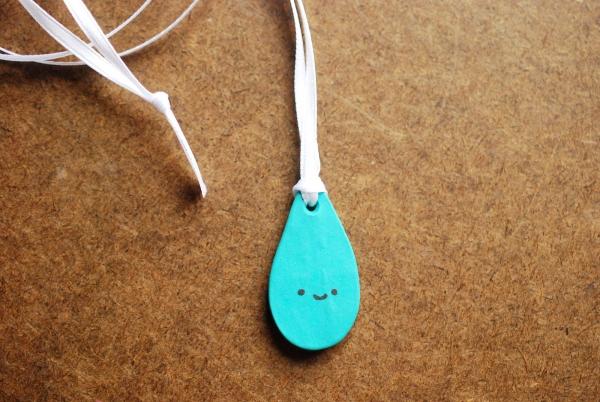Clay Raindrop Necklace