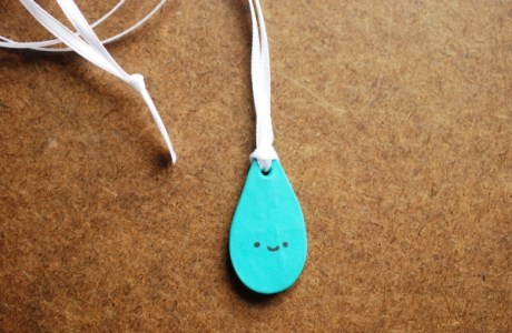 Clay Raindrop Necklace