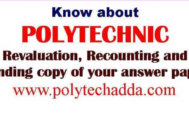 ABOUT REVALUATION, RECOUNTING AND SENDING COPY OF YOUR ANSWER PAPER OF SBTET