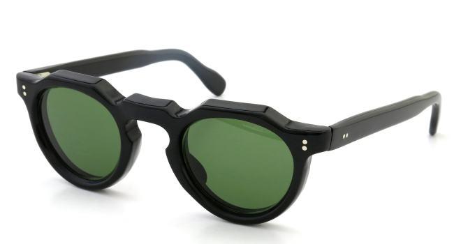 Lesca レスカ Vintage Crown-Panto 8mm Black (v9) Green-lense