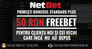 Exclusiv: 50 RON FREEBET la Netbet