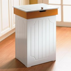 BrylaneHome Country Kitchen Trash Bin