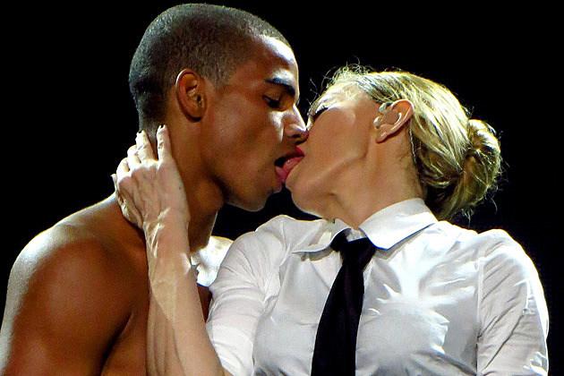 Madonna Brahim Zaibat Kissing