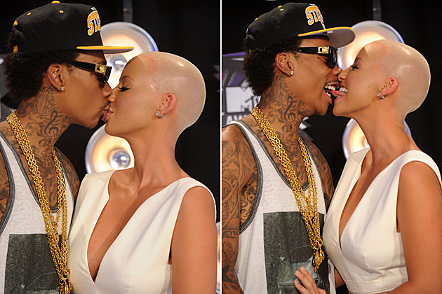 Wiz Khalifa Amber Rose Kissing