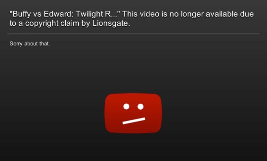 Buffy vs Edward unfairly removed