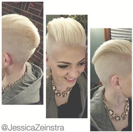 Short Hairstyle Shaved Underneath of 3 by Nancy