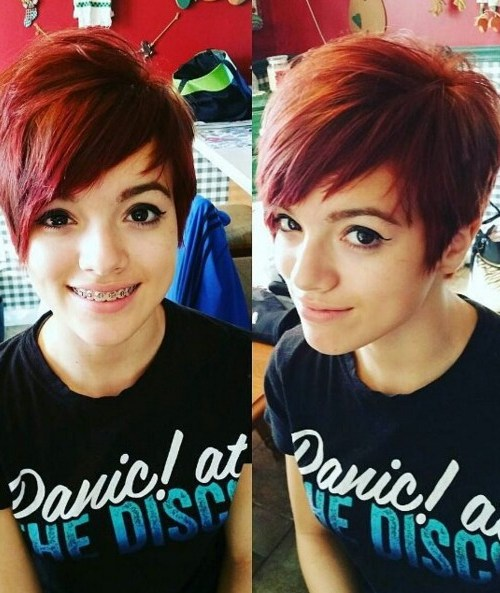 Cute, Short Pixie Haircut